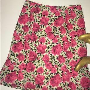 Floral Beth Bowley trumpet skirt EUC